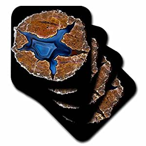 Danita Delimont - Rocks - Pair of Matching Thunderegg Agates, Quartzsite - set of 8 Coasters - Soft (cst_229630_2)