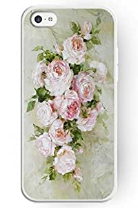 SPRAWL New Fashion Design Hard Skin Case Cover Shell for Mobile Phone Apple Iphone 5C -- White Rose Painting