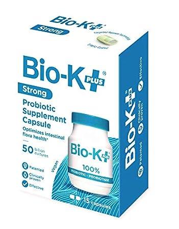 Amazon com: Bio-K+ Probiotic Supplement Capsule for Women & Men, 50