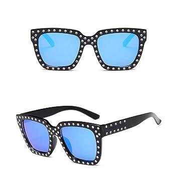 Burenqi Gafas de Sol Mujer Cristal Decoración Gafas de Sol ...
