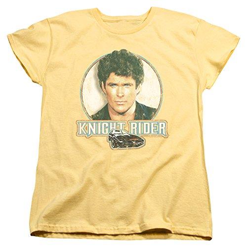 Agent Yellow T-shirt (Knight Rider Sci-Fi Crime Series Michael Knight And KITT Women's T-Shirt)