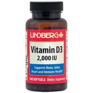 Lindberg Vitamin D3 2000 IU, 240 Softgels