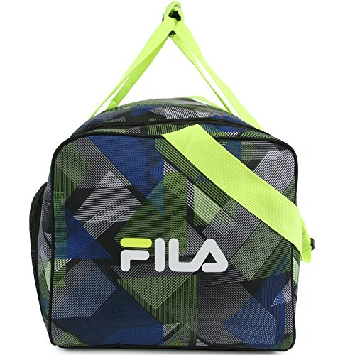 51I66hrQ5uL - Fila Energy Md Travel Gym Sport Duffel Bag, Abstract Neon