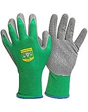 GRÜNTEK Tuinhandschoenen, 5 paar polyestervezels met latexcoating, geschikt voor privé- en commercieel gebruik