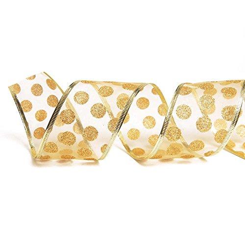 Fita De Natal 3,8Cm C/ 9,14M Dourado