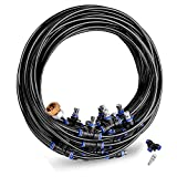 Gesentur [Upgraded 2018] Misting Cooling System - 42.6ft(13M) Misting Line + 16 Metal Mist Nozzles + a Brass Adapter(3/4) for Patio Garden Irrigation Greenhouse Trampoline Waterpark