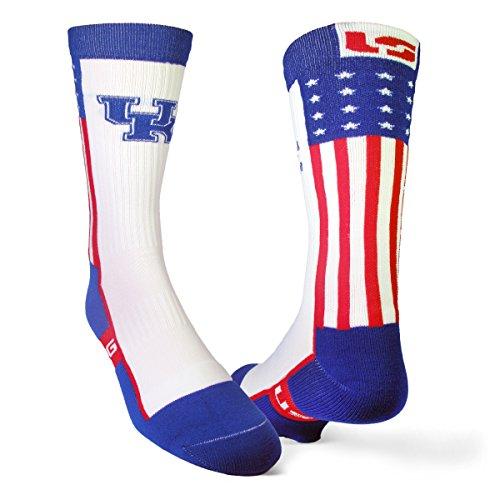 University of Kentucky Performance Athletic Sock - American Flag (Medium)