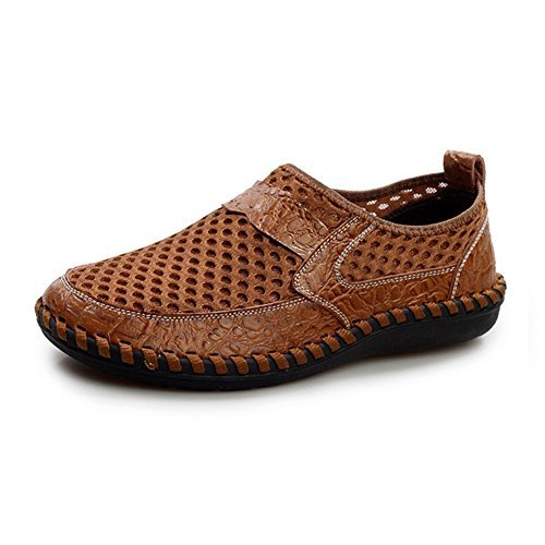 Men's Flats Beach Shoes Slip On Casual Mesh Round-Toe Loafers Shoes