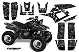 Yamaha Warrior 350 All Years ATV All Terrain Vehicle AMR Racing Graphic Kit Decal REAPER BLACK