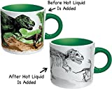 heat changing mugs - Disappearing Dino Mug - Heat Sensitive Color Changing Coffee Mug - Add Hot Liquid and Watch Dinosaurs Turn to Fossils
