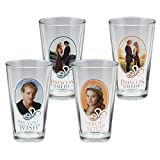 Vandor 24012 The Princess Bride 4 Piece 16 Ounce Glass Set, Multicolored