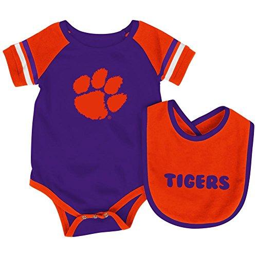 Colosseum Clemson University Tigers Infant Bodysuit and Bib Set Baby Jersey (3-6 M)