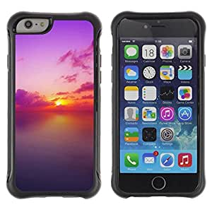 "Hypernova Defender Series TPU protection Cas Case Coque pour Apple Iphone 6 [Sunset Beautiful Nature 73""]"