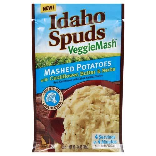 Idaho Spuds VeggieMash Mashed Potatoes Cauliflower, Butter & Herbs 3.74 oz (Pack of 2)