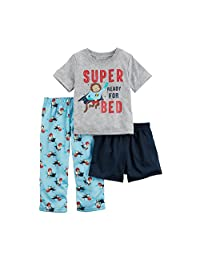 Carter's Boys' 3 Piece Super Ready for Bed PJ Set