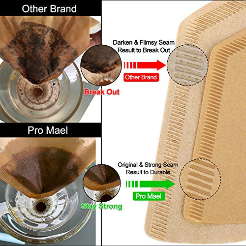 Cone Coffee Filters Natural Brown Pour Over Coffee Drip Filter #4 100-PACK