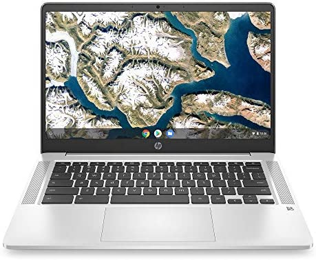 "HP Chromebook 14 - 14"" HD Non-Touch Intel Pentium Silver N5000, Intel UHD Graphics 605, 4GB RAM, 64GB eMMC, WiFi, Bluetooth, Audio by way of B&O, Chrome OS (Renewed)"