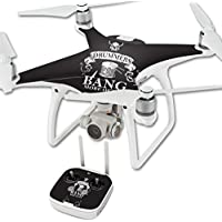 Skin For DJI Phantom 4 Quadcopter Drone – Drummers | MightySkins Protective, Durable, and Unique Vinyl Decal wrap cover | Easy To Apply, Remove, and Change Styles | Made in the USA