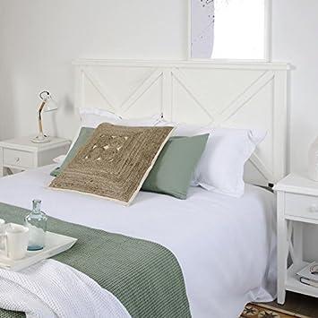 Banak Niza Bett Kopfteil 150 160 Holz 162x6x125 Cm Farbe Weiss