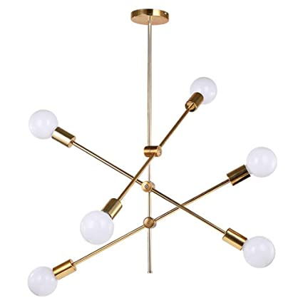 KMY-LIGHTING Sputnik Chandelier Nordic Moderno Ajustable ...