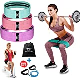 WOOSL Resistance Bands Loop Exercise Bands Booty Bands Workout Bands Hip Bands Wide Resistance Bands for Legs and Butt Resistance Bands for Workout Hip Booty Band Circle Booty Band Hip Resistance Band
