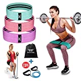 #10: WOOSL Resistance Bands Loop Exercise Bands Booty Bands Workout Bands Hip Bands Wide Resistance Bands for Legs and Butt Resistance Bands for Legs and Butt Hip Booty Bands Circle Hip Resistance Band