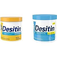 Desitin Multipurpose Baby Diaper Rash Ointment & Skin Protectant 14 oz with Baby Diaper Rash Cream, Hypoallergenic, Dye, Phthalate & Paraben-Free, 16 oz