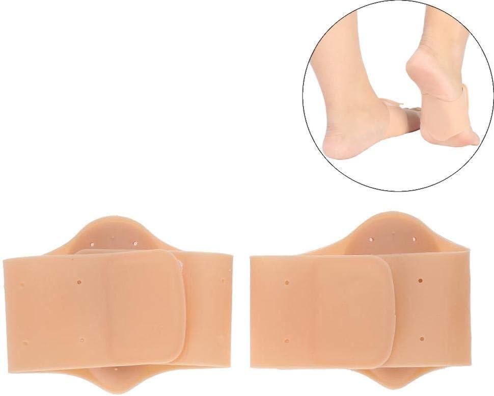 Plantillas de soporte de arco, 1 par/conjunto de pies de silicona ortótica Piezas de pie plantilla del soporte del arco de amortiguador almohadillas para pie plano, fascítico plantar(tono de piel)