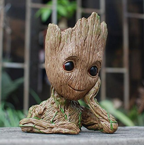 Groot planters Guardians of The Galaxy Flowerpot Baby Cute pots Model Toy Pen Holder