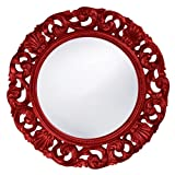 Howard Elliott 2170R Glendale Mirror, Red For Sale