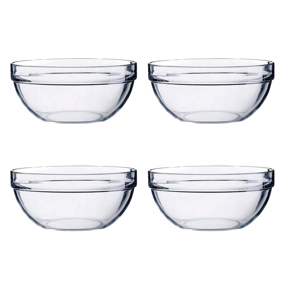 14x6cm BESTONZON 4pcs Acrylic Salad Bowl//Serving Bowls,Great for Serving Salad,Popcorn,Chips,Dips Vegetable