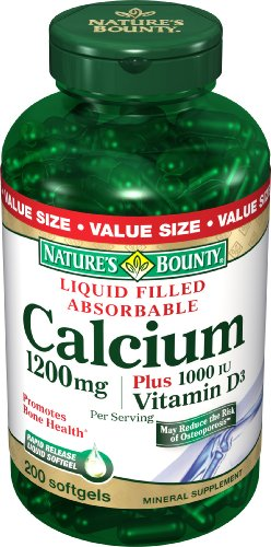Nature Bounty calcium 1200 mg. Plus Vitamine D3, 200-Comte