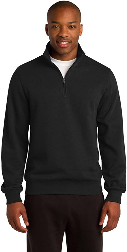 Sport-Tek Mens Tall 1//4-Zip Sweatshirt 3XLT Black