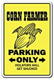 [SignJoker] CORN FARMER ~Novelty Sign~ parking signs farm tractor Wall Plaque Decoration