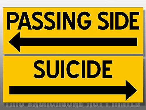 American Vinyl Set of 2: PASSING SIDE and SUICIDE Stickers