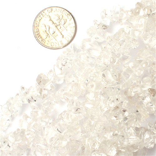 GEM-inside 7mm-8mm Rock Crystal Quartz Chips Beads Gemstone Gem Loose Beads Findings Accessories 34 Inches
