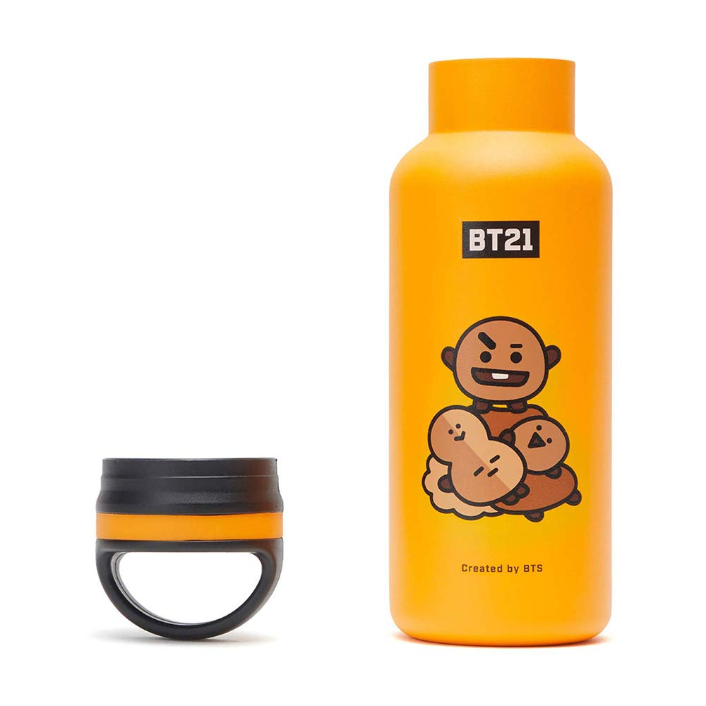 BT21 Official Merchandise by Line Friends Vacuum Drinking Tumbler Cup with Lid 16 oz