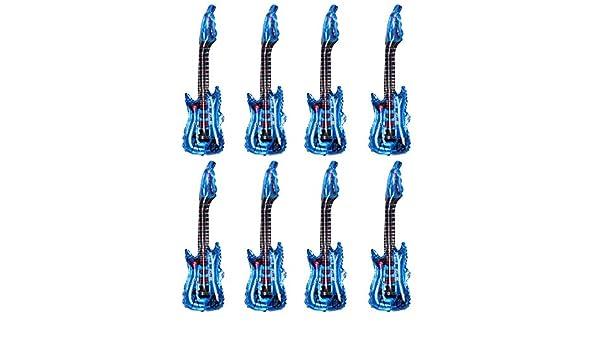 Ayioo 8 Piezas Globo Metalizado Juego Guitarra Forma Reutilizable ...