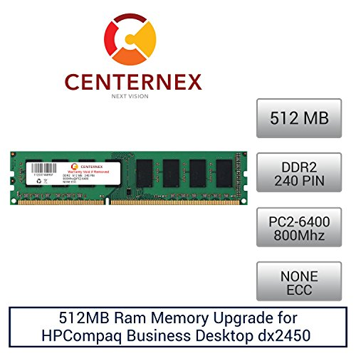 Click to buy 512MB RAM Memory for HPCompaq Business Desktop dx2450 (DDR26400 NonECC) (AH056AA ) Desktop Memory Upgrade by US Seller - From only $26.56