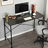soges Computer Desk 47.2'' Sturdy Office Meeting/Training Desk Writing Desk Workstation Desk Computer Table Gaming Desk, Black WK-JM120-BWB