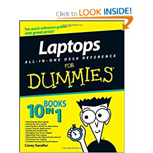 Laptops All-in-One Desk Reference For Dummies 2008 publication. Cory Sandlr