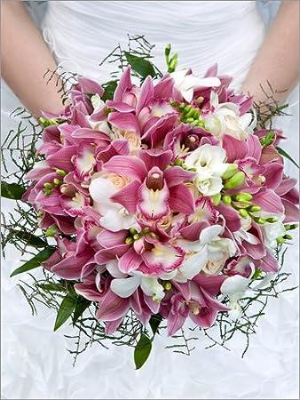 Posterlounge Holzbild 90 X 120 Cm Brautstrauss Aus Orchideen Von