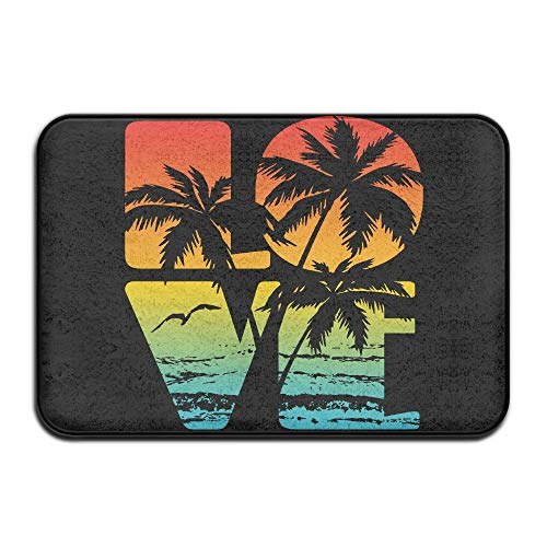 Fuucc-6 Inside & Outside Carpet Entrance Mat Love Hawaii Design Pattern Dining by Fuucc-6