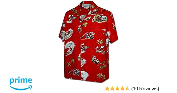 cd805407 Pacific Legend Tropcial Santa Men's Christmas Hawaiian Shirt 3922-RED-M at  Amazon Men's Clothing store: