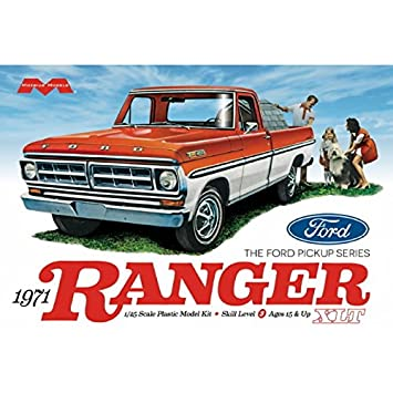 Moebius Model 125 Scale 1971 Ford Ranger Pickup Truck Kit Vehicle
