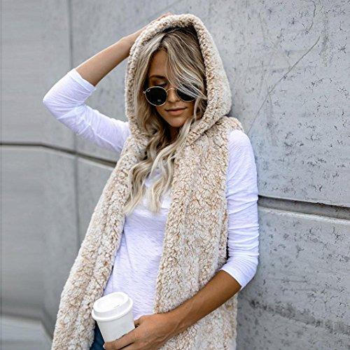 4b6da145bdefe5 durable modeling Giubbotto , Giacca , Cappotto Donna , feiXIANG® Donna  gilet inverno caldo cappuccio
