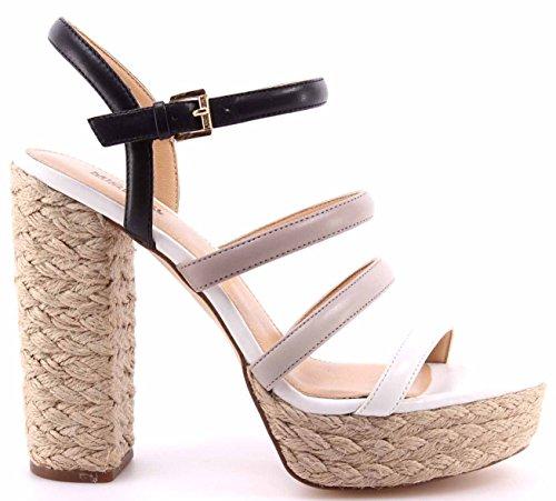 Damen Sandals Schuhe Pumps MICHAEL KORS Nantucket Platform Leather BlkPrl Grey