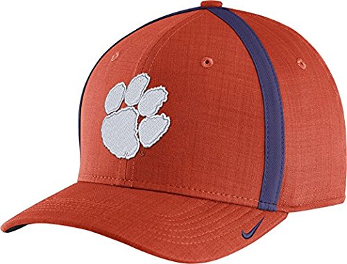 Nike Men's Clemson Tigers Orange AeroBill Football Sideline Coaches Classic99 Hat (OneSize) -