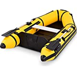 Goplus 2 or 4-Person Inflatable Dinghy Boat Fishing Tender Raft Deep Bottom and Trolling Motor Transom (2-Person 7.5FT, Yellow)