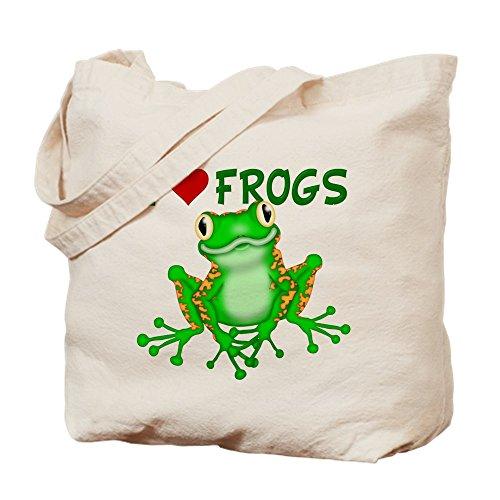 CafePress bolsa - I Love de ranas de bolsa para herramientas de (diseño de corazón con)